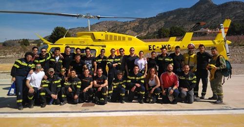 EPC Centro de Defensa Forestal de la Sierra de la Pila y han podido ver al helicóptero
